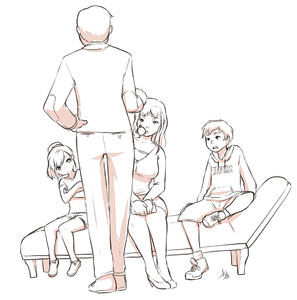 Rating: Questionable Score: 6 Tags: 2boys 2girls age_difference aogami brother_and_sister flat_chest from_behind hypnosis milf mind_control monochrome mother_and_son multiple_boys multiple_girls siblings User: Sharpadogge