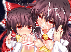 Rating: Explicit Score: 3 Tags: 2girls black_hair blush bow breasts censored close-up cum cum_on_body cum_on_breasts cum_on_upper_body dual_persona face facial fang furaido hair_bow hair_flip hair_tubes hakurei_reimu highres multiple_girls nipples open_mouth penis red_eyes team_shanghai_alice tongue touhou_project younger User: DMSchmidt