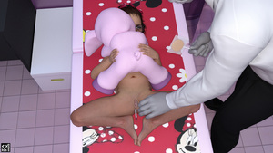 Rating: Explicit Score: 29 Tags: 1boy 1girl 3dcg absurdres age_difference anal anal_object_insertion barefoot black_hair candy clitoris from_above glasses highres holding holding_lollipop k0smos lollipop long_sleeves lying minnie_mouse navel object_insertion on_back original photorealistic polka_dot pussy spread_pussy stuffed_animal stuffed_toy thermometer tile_floor User: Domestic_Importer
