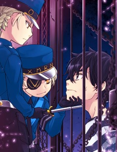 Rating: Safe Score: 2 Tags: 1boy 2girls amamiya_ren baton black_gloves braid caroline_(persona_5) eyepatch flat_chest gloves hat justine_(persona_5) multiple_girls necktie persona persona_5 reki09 siblings sisters striped_shirt twins yellow_eyes User: DMSchmidt