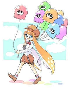 Rating: Safe Score: 0 Tags: 10s 1girl balloon blue_eyes blush_stickers cloud comamawa domino_mask fangs full_body happy hat highres inkling looking_at_viewer mask monster_girl nintendo open_mouth orange_hair pointy_ears shoes simple_background sky socks splatoon splatoon_2 squid walking User: Domestic_Importer