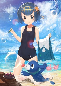 Rating: Safe Score: 1 Tags: >o< 10s 1girl >o< absurdres akamizuki_(akmzk) bare_arms bare_legs beach black_hair blue_eyes blue_sky blush breasts bubble bubble_blowing bubble_pipe closed_eyes closed_mouth cloud cloudy_sky collarbone corsola covered_navel day feet flower flower_on_head hair_flower hair_ornament hair_ribbon hairband highres holding_clothes kneeling looking_at_viewer npc_trainer ocean one-piece_swimsuit open_mouth outdoors partially_submerged pokemon pokemon_(creature) pokemon_(game) pokemon_sm popplio pyukumuku ribbon sand short_hair sky small_breasts smile suiren_(pokemon) swimsuit trial_captain water User: DMSchmidt