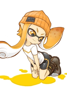 Rating: Safe Score: 0 Tags: >:> 1girl :> :> >:> beanie hat inkling kneeling long_hair mask orange_eyes orange_hair pointy_ears shirt shishou_(xxsisyou) simple_background smile solo spats splatoon tentacle_hair white_background white_shirt User: DMSchmidt