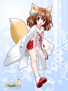 Rating: Safe Score: 0 Tags: 1girl adapted_uniform animal_ears chihaya_(clothing) fox_ears fox_tail japanese_clothes miko nakajima_konta snow_fox solo tail tsurara_(snow_fox) User: DMSchmidt