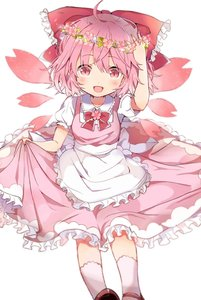 Rating: Safe Score: 1 Tags: 1girl alternate_colour alternate_element alternate_eye_colour alternate_hair_colour apron arm_up blouse bow cherry_blossoms cirno dress eyebrows_visible_through_hair fairy_wings flower frilled_dress frills hair_bow head_wreath highres holding_dress looking_at_viewer open_mouth pink_bow pink_dress pink_eyes pink_hair pink_theme potesara puffy_short_sleeves puffy_sleeves red_bow sakura_cirno shirt short_hair short_sleeves smile solo touhou_project white_blouse white_shirt wings wreath User: DMSchmidt