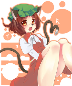 Rating: Safe Score: 0 Tags: 1girl animal_ears blush brown_eyes brown_hair cat_ears cat_tail chen hat looking_at_viewer mouse_nose multiple_tails outline short_hair snowcanvas solo tail touhou_project User: DMSchmidt