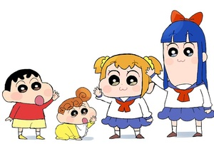 Rating: Safe Score: 0 Tags: 1boy 3girls artist_request baby black_hair blue_hair blush brown_hair buzz_cut crayon_shin-chan crossover curly_hair eyebrows_visible_through_hair hair_ribbon long_face long_hair multiple_girls nohara_himawari nohara_shinnosuke official_style open_mouth orange_hair parody pipimi poptepipic popuko ribbon school_uniform seiyuu_connection shirt short_hair shorts shota skirt socks thick_eyebrows toddlercon uniform waving User: Domestic_Importer