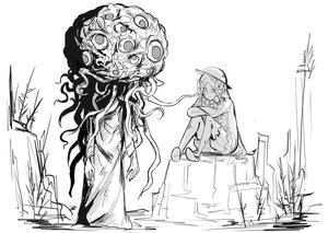 Rating: Safe Score: 0 Tags: 1girl abigail_williams_(fate/grand_order) absurdres androgynous bangs bloodborne bow creature crossed_arms crossover crying crying_with_eyes_open dress fate/grand_order fate_(series) greyscale hair_bow hat highres kan_(aaaaari35) long_hair long_sleeves monochrome monster outdoors parted_bangs sitting standing tears tentacles very_long_hair winter_lantern wiping_tears User: DMSchmidt
