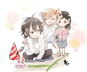 Rating: Safe Score: 0 Tags: >_d 1boy 2girls :d ^_^ _o_ arms_up barakamon birthday black_hair brown_hair cake candle closed_eyes food handa_seishuu hat hina_(barakamon) kotoishi_naru kubota_hina lighter multiple_girls namugi open_mouth outstretched_arm party_hat shorts side_ponytail smile wreath User: DMSchmidt