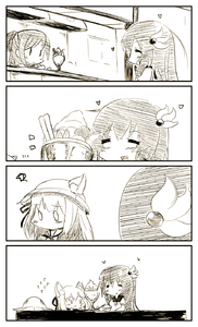 Rating: Safe Score: 0 Tags: 0_0 3girls 4koma :d :t =_= animal_ears azur_lane bangs blush cat_ears closed_mouth coin_purse comic crossover ears_through_headwear eating eyebrows_visible_through_hair flying_sweatdrops hair_between_eyes hair_ornament hair_ribbon hat hat_removed headwear_removed heart highres holding holding_spoon indoors kantai_collection kisaragi_(azur_lane) kisaragi_(kantai_collection) long_hair mamiya_(kantai_collection) monochrome multiple_girls namesake open_mouth parfait ribbon school_hat school_uniform serafuku shirt short_sleeves silent_comic smile spoon table very_long_hair yagami_kamiya User: DMSchmidt