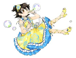 Rating: Safe Score: 0 Tags: 1girl akagi_miria alternate_colour black_hair brown_eyes bubble bubble_blowing c cosplay crossover dot_nose dress floating flower frilled_dress frills hair_flower hair_ornament half_updo high_heels idol idolmaster idolmaster_cinderella_girls idolmaster_million_live! idolmaster_million_live!_theater_days kitakami_reika kitakami_reika_(cosplay) miridereningen short_hair short_twin_tails simple_background sleeveless sleeveless_dress solo twin_tails white_background yellow_dress yellow_footwear User: Domestic_Importer