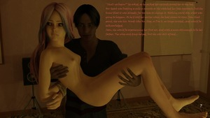 Rating: Explicit Score: 4 Tags: 1boy 1girl 3dcg afraid age_difference arms_behind_back bdsm bedroom blue blue_eyes bondage bound breasts candlelight clothed_male_nude_female hardway_house highres imminent_sex nude original person_carrying photorealistic purple_hair rope self_upload small_breasts small_nipples staring_at_breasts text virgin virginlover User: Virginlover