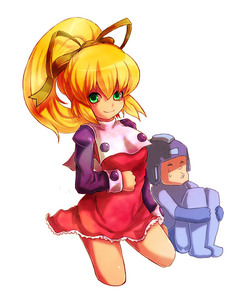 Rating: Safe Score: 0 Tags: 1boy 1girl bad_id blonde_hair capcom cropped_legs dress green_eyes kara_(color) ponytail red_skirt rockman rockman_(character) rockman_(classic) roll skirt User: DMSchmidt