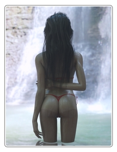Rating: Questionable Score: 24 Tags: 1girl 3d_custom_girl 3dcg ass bikini brown_hair from_behind highres long_hair micro_bikini one-piece_tan outdoors photorealistic pussy see-through shiny shiny_skin side-tie_bikini solo standing string_bikini swimsuit tan tanline transparent_clothes twitchster water waterfall wet User: Software