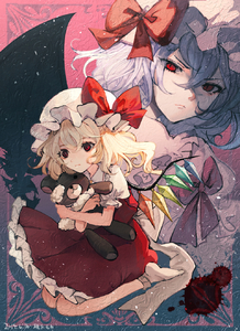 Rating: Safe Score: 0 Tags: 2girls >:( bangs bat_wings blonde_hair blue_hair bow crystal dated dress eyebrows_visible_through_hair flandre_scarlet hair_between_eyes hat hat_bow highres holding holding_stuffed_animal long_hair looking_at_viewer mob_cap mochacot multiple_girls no_shoes one_side_up petticoat pink_background puffy_short_sleeves puffy_sleeves red_bow red_eyes red_skirt red_vest remilia_scarlet short_hair short_sleeves siblings sisters sitting skirt skirt_set socks stuffed_animal stuffed_toy teddy_bear touhou_project useless_tags v-shaped_eyebrows vest wariza white_dress white_headwear white_legwear wings User: DMSchmidt