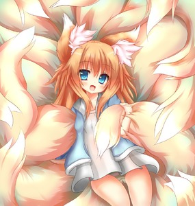 Rating: Safe Score: 1 Tags: 1girl absurdres animal_ear_fluff animal_ears blue_eyes blue_jacket brown_hair dress fox_ears fox_tail highres huge_filesize jacket long_hair macaroni710 multiple_tails open_mouth original pantsu shimapan short_dress smile solo striped tail tail_hold thigh_gap underwear white_dress User: DMSchmidt
