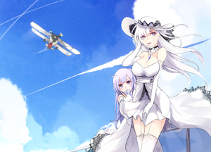 Rating: Safe Score: 0 Tags: 2girls :d ahoge aircraft anthropomorphism aqua_eyes azur_lane blue_eyes blue_sky breasts cleavage cloud cloudy_sky depty_of_field doll_hug dress elbow_gloves garter_belt garter_straps gloves hat highres hms_unicorn_(azur_lane) illustrious_(azur_lane) long_hair looking_at_viewer multiple_girls off-shoulder_dress off_shoulder open_mouth peeking_out shiliuye_feiyu silver_eyes silver_hair sky smile stuffed_animal stuffed_toy stuffed_unicorn sun_hat swordfish_(airplane) thighhighs unicorn_(azur_lane) white_dress white_gloves white_hair white_legwear wind User: DMSchmidt