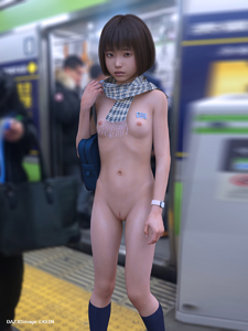 Rating: Explicit Score: 19 Tags: 1girl 3dcg asian black_hair breasts exhibitionism kein nipples nude photorealistic public_nudity pussy scarf short_hair small_breasts solo_focus standing User: laylomo