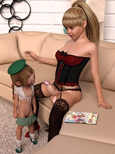Rating: Explicit Score: 11 Tags: 1girl 3dcg age_difference blonde_hair braid brown_hair couch elf erection flat_chest full-package_futanari futanari girl_scout high_heels indoors large_penis leanne_(mystix) lily_(mystix) lingerie mystix penis pointy_ears ponytail pussy skirt_drop smile User: flondrix