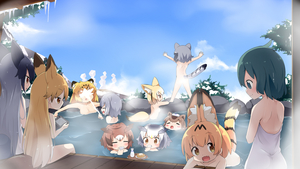 Rating: Questionable Score: 1 Tags: 6+girls :d =_= animal_ears arms_up blonde_hair blue_sky blush blush_stickers bottle brown_eyes brown_hair capybara_(kemono_friends) capybara_ears choko_(cup) closed_eyes cloud common_raccoon_(kemono_friends) convenient_censoring cup day drinking eurasian_eagle_owl_(kemono_friends) extra_ears ezo_red_fox_(kemono_friends) fang fennec_(kemono_friends) food fox_ears fox_tail green_eyes green_hair grey_hair handheld_game_console head_wings highres holding holding_cup icicle jaguar_(kemono_friends) jaguar_ears japari_bun japari_symbol kaban_(kemono_friends) kemono_friends long_hair looking_at_another makuran mountain multicoloured_hair multiple_girls naked_towel northern_ocean_hime northern_white-faced_owl_(kemono_friends) nude onsen open_mouth otter_ears outdoors outstretched_arm partially_submerged raccoon_ears raccoon_tail sake_bottle sandstar serval_(kemono_friends) serval_ears serval_tail short_hair silver_fox_(kemono_friends) sitting sky small-clawed_otter_(kemono_friends) smile spread_arms standing steam steam_censor tail towel towel_on_head tray tree very_long_hair water water_gun white_hair yellow_eyes User: Domestic_Importer
