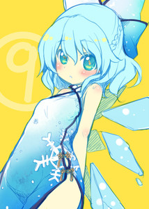 Rating: Safe Score: 0 Tags: (9) 1girl alternate_costume bare_arms bare_shoulders blue_dress blue_eyes blue_hair blush braid china_dress chinese_clothes cirno coloured dress dutch_angle flat_colour hair_ribbon ice ice_wings looking_at_viewer minamura_haruki parted_lips ribbon short_hair simple_background sketch snowflake_print solo touhou_project wings yellow_background User: DMSchmidt