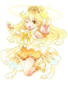 Rating: Safe Score: 0 Tags: 1girl ;d blonde_hair bow brooch cure_peace dress jewellery jumping kise_yayoi long_hair magical_girl one_eye_closed open_mouth precure princess_form_(smile_precure!) ratryu ribbon shoes shorts shorts_under_skirt skirt smile smile_precure! solo spats tiara v white_background yellow yellow_dress yellow_eyes yellow_skirt User: DMSchmidt