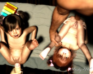 Rating: Explicit Score: 47 Tags: 2boys 2girls 3dcg age_difference anal flat_chest hetero highres looking_at_viewer multiple_boys multiple_girls nude original pacifier penis photorealistic pussy slimdog toddlercon uncensored User: lalilu1234