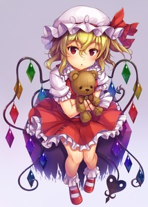 Rating: Safe Score: 0 Tags: 1girl :o bare_legs bell blonde_hair bobby_socks flandre_scarlet full_body hair_between_eyes hat hat_ribbon highres jingle_bell looking_at_viewer miniskirt mob_cap object_hug puffy_short_sleeves puffy_sleeves red_eyes red_footwear red_ribbon red_skirt ribbon shoes short_sleeves skirt skirt_set snowcanvas socks solo standing stuffed_animal stuffed_toy teddy_bear touhou_project white_hat white_legwear wings User: DMSchmidt