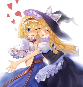 Rating: Safe Score: 0 Tags: 2girls ^_^ alice_margatroid apron backlighting blonde_hair blue_dress blue_eyes blush braid capelet cheek-to-cheek closed_eyes dress hair_ribbon hairband hands_on_own_chest hat hat_ribbon heart incipient_hug kirisame_marisa lolita_hairband long_hair multiple_girls one_eye_closed open_mouth outstretched_arm puffy_short_sleeves puffy_sleeves ribbon sash short_hair short_sleeves simple_background single_braid skirt skirt_set touhou_project tress_ribbon vetina waist_apron white_background witch_hat yuri User: DMSchmidt