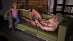Rating: Explicit Score: 6 Tags: 1boy 1girl 3d_custom_girl 3dcg age_difference barefoot blonde_hair blue_eyes couch father_and_daughter flat_chest incest long_hair lying penis penis_awe photorealistic shadow sitting snarkmaster worried younger User: Timon1553