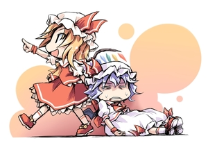 Rating: Safe Score: 0 Tags: 2girls blonde_hair chibi flandre_scarlet ham_(points) hat lavender_hair multiple_girls remilia_scarlet siblings sisters sweat team_shanghai_alice touhou_project wings User: DMSchmidt