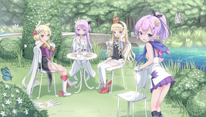 Rating: Safe Score: 1 Tags: 4girls :d ahoge aliasing anchor_symbol animal animal_ears anthropomorphism azur_lane bangs bare_shoulders biscuit black_hairband black_legwear black_panties black_ribbon black_shirt blonde_hair blue_eyes blue_flower blue_skirt boots bow bridal_gauntlets bridge bush butter camisole cat_ears chair closed_mouth criss-cross_halter cropped_jacket crown cup day dress eyebrows_visible_through_hair flower food forest group hair_between_eyes hair_bow hair_bun hair_ribbon hairband halterneck headgear high_ponytail highres hms_unicorn_(azur_lane) jacket javelin_(azur_lane) kimagure_blue knee_boots kneehighs long_sleeves looking_at_viewer looking_to_the_side mini_crown multiple_girls nature on_chair one_side_up open_mouth outdoors pantsu pink_flower plaid plaid_skirt plate pleated_skirt ponytail purple_eyes purple_footwear purple_hair purple_jacket queen_elizabeth_(azur_lane) red_footwear ribbon rudder_shoes scarf shirt short_hair_with_long_locks side-tie_panties side_bun sitting skirt sleeveless sleeveless_dress smile standing table tea teacup teapot thighhighs underwear unicorn_(azur_lane) warspite_(azur_lane) white_bow white_camisole white_dress white_flower white_footwear white_scarf white_skirt User: DMSchmidt