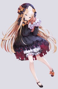 Rating: Safe Score: 1 Tags: 1girl abigail_williams_(fate/grand_order) artist_name bangs black_bow black_dress black_footwear black_hat blonde_hair bloomers blue_eyes bow butterfly dress eyebrows_visible_through_hair eyes_visible_through_hair fate/grand_order fate_(series) forehead full_body grey_background hair_bow hat head_tilt highres holding holding_stuffed_animal long_hair long_sleeves looking_at_viewer mary_janes orange_bow parted_bangs polka_dot polka_dot_bow shoes simple_background sleeves_past_wrists solo stuffed_animal stuffed_toy teddy_bear tonowa underwear very_long_hair white_bloomers User: DMSchmidt