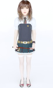 Rating: Safe Score: 3 Tags: 1girl 3dcg belt brown_hair flat_chest harry_potter hermione_granger long_hair looking_at_viewer necktie nevyn photorealistic pose shoes skirt standing thighhighs wand zettai_ryouiki User: fantasy-lover