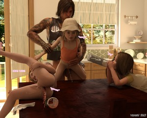 Rating: Explicit Score: 41 Tags: 1boy 3dcg 3girls after_sex age_difference cum cum_in_pussy enema flat_chest from_behind hat held_up highres kitchen multiple_girls open_mouth pee peeing penis photorealistic rape sex shoes testicles vaginal venesti User: fantasy-lover