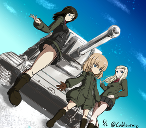 Rating: Safe Score: 0 Tags: 3girls bangs black_boots black_hair black_legwear black_skirt black_vest blonde_hair blue_eyes boots clara_(girls_und_panzer) closed_mouth cloud cloudy_sky dated day dutch_angle girls_und_panzer green_jacket ground_vehicle helmet jacket katyusha kv-2 long_hair long_sleeves loriko military military_uniform military_vehicle miniskirt motor_vehicle multiple_girls nonna pleated_skirt pravda_military_uniform pravda_school_uniform red_shirt school_uniform shirt short_hair short_jumpsuit skirt sky smile socks standing swept_bangs tank turtleneck twitter_username uniform upskirt vest User: Domestic_Importer