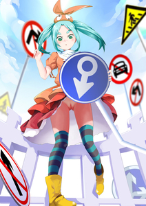 Rating: Questionable Score: 0 Tags: 1girl aqua_hair artist_request blue_sky blush boots cloud dress green_eyes hat highres kneehighs long_hair mars_symbol monogatari_(series) nisemonogatari nopan ononoki_yotsugi puffy_short_sleeves puffy_sleeves pussy road_sign rubber_boots short_sleeves sign sky striped striped_legwear thick_eyebrows thighhighs twin_tails upskirt yellow_boots User: Domestic_Importer