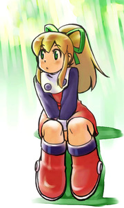 Rating: Safe Score: 0 Tags: 1girl blonde_hair boots capcom green_eyes hair_ribbon knee_boots ponytail ramb_chop red_skirt ribbon rockman rockman_(classic) roll sitting skirt solo User: DMSchmidt