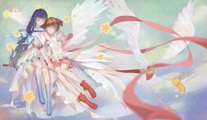 Rating: Safe Score: 0 Tags: 2girls absurdres black_hair cardcaptor_sakura closed_eyes cousins daidouji_tomoyo dress highres kamachi_kamachi-ko kero kinomoto_sakura long_hair multiple_girls short_hair sleeping smile wings User: DMSchmidt