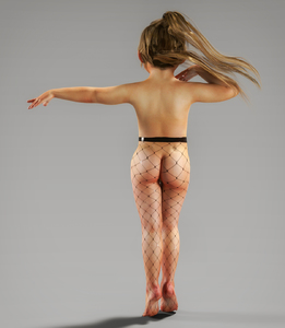 Rating: Questionable Score: 16 Tags: 1girl 3dcg ass barefoot bouba fishnet_pantyhose from_behind full_body long_hair original pantyhose photorealistic ponytail simple_background solo standing tiptoes topless User: Domestic_Importer