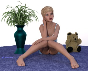 Rating: Explicit Score: 2 Tags: 1girl 3d_custom_girl 3dcg artist_name ass ass_visible_through_thighs blonde_hair bottomless carpet feet knees_together_feet_together looking_at_viewer nopan photorealistic pussy short_hair sitting solo stuffed_animal stuffed_toy teddy_bear timnaas uncensored User: Software