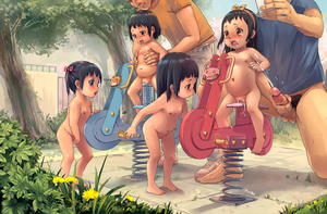 Rating: Explicit Score: 61 Tags: 2boys 4girls absurdres anime801 black_eyes black_hair blue_eyes bottomless brown_eyes cellphone covering covering_crotch cum cumdrip dildo ejaculation erection flat_chest hairband highres large_insertion long_hair male_masturbation male_pubic_hair masturbation multiple_boys multiple_girls multiple_penises navel nipples nude object_insertion open_mouth original outdoors park penis phone playground pubic_hair pussy sex_toy shiny shiny_hair shiny_skin short_hair tears toddlercon tongue twin_tails uncensored vaginal vaginal_object_insertion User: Domestic_Importer