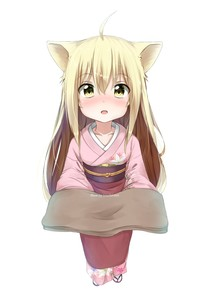 Rating: Safe Score: 1 Tags: 1girl ahoge animal_ears blonde_hair blush eyebrows eyebrows_visible_through_hair fang highres japanese_clothes kimono konohana_kitan long_hair looking_at_viewer open_mouth simple_background solo standing towel very_long_hair white_background yellow_eyes youthpaint yuzu_(konohana_kitan) User: DMSchmidt
