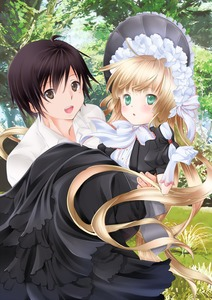 Rating: Safe Score: 0 Tags: 1boy 1girl amano_sakuya blonde_hair bonnet brown_eyes brown_hair carrying chin_strap coloured dress frills gloves gosick gothic_lolita grass green_eyes hairband highres kujou_kazuya lolita_fashion long_hair looking_at_viewer open_mouth outdoors parted_lips princess_carry ribbon short_hair tree very_long_hair victorica_de_blois User: Domestic_Importer