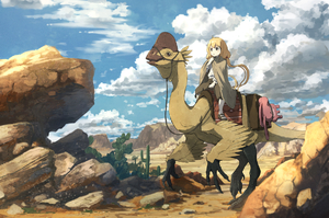 Rating: Safe Score: 1 Tags: 10s 1girl alternate_costume anachronism bandai_namco beak blonde_hair blush cactus cape capri_pants claws cloud desert dinosaur fantasy futaba_anzu hand_up idolmaster idolmaster_cinderella_girls kamemaru long_hair pants reins riding rock saddle sandals scenery serious sky stuffed_animal stuffed_bunny stuffed_toy twin_tails User: DMSchmidt