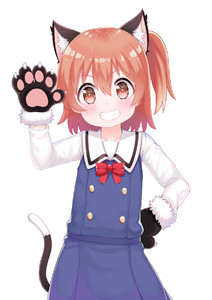 Rating: Safe Score: 0 Tags: 1girl animal_ear_fluff animal_ears arm_up atg_(wttoo0202) bangs black_gloves blue_dress blush bow bowtie brown_eyes brown_hair cat_ears cat_girl cat_tail cowboy_shot dress eyebrows_visible_through_hair fur-trimmed_gloves fur_trim gloves grin hair_between_eyes hand_on_hip head_tilt highres hoshino_hinata kemonomimi_mode long_sleeves one_side_up paw_gloves paws red_neckwear sailor_collar sailor_dress school_uniform shirt simple_background sleeveless sleeveless_dress smile solo standing tail watashi_ni_tenshi_ga_maiorita! white_background white_sailor_collar white_shirt User: DMSchmidt