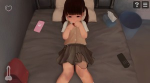 Rating: Questionable Score: 11 Tags: 1girl backpack bag bangs bed black_hair blunt_bangs flat_chest game_cg grey_skirt hud lost_life_(happy_lamb_barn) lying mobile_phone on_back on_bed phone pillow rape remote_control school_uniform solo tissue_box twin_tails white_legwear User: Fui