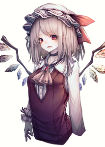Rating: Safe Score: 0 Tags: 1girl absurdres ascot blonde_hair brooch collar fang flandre_scarlet frills gem hat hat_ribbon highres hito_komoru jewellery long_hair long_sleeves mob_cap open_mouth red_eyes red_ribbon red_vest ribbon shirt simple_background solo touhou_project vest white_background white_shirt wings yellow_neckwear User: DMSchmidt