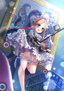 Rating: Safe Score: 1 Tags: 1girl :d abigail_williams_(fate/grand_order) bangs black_dress blonde_hair bloomers blue_eyes blush bow braid breasts butterfly_hair_ornament dress fate/grand_order fate_(series) forehead hair_ornament heart heroic_spirit_chaldea_park_outfit jin_young-in long_hair long_sleeves open_mouth orange_bow parted_bangs picture_frame shirt sidelocks sleeveless sleeveless_dress sleeves_past_fingers sleeves_past_wrists small_breasts smile solo standing standing_on_one_leg stuffed_animal stuffed_toy suction_cups teddy_bear tentacles underwear very_long_hair white_bloomers white_shirt User: DMSchmidt