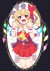 Rating: Safe Score: 0 Tags: 1girl absurdres ascot bangs blonde_hair blush bow breasts crystal eyebrows_visible_through_hair fang fangs flandre_scarlet frilled_shirt frilled_shirt_collar frilled_skirt frilled_sleeves frills full_body hair_between_eyes hat hat_bow hat_ribbon highres joker_(tomakin524) laevatein looking_at_viewer medium_hair mob_cap open_mouth paw_pose puffy_short_sleeves puffy_sleeves red_bow red_eyes red_ribbon red_skirt red_vest ribbon shirt short_hair short_sleeves side_ponytail skirt small_breasts socks solo tongue touhou_project vest white_legwear white_shirt wings yellow_neckwear User: DMSchmidt